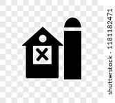barn vector icon isolated on... | Shutterstock .eps vector #1181182471
