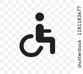 handicap vector icon isolated... | Shutterstock .eps vector #1181183677