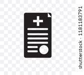 medical records vector icon... | Shutterstock .eps vector #1181183791
