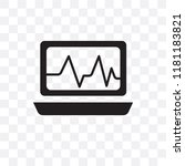 cardiogram vector icon isolated ... | Shutterstock .eps vector #1181183821