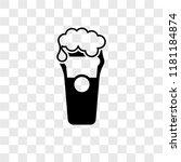 pint of beer vector icon... | Shutterstock .eps vector #1181184874