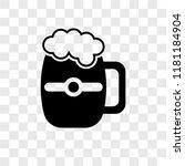 pint of beer vector icon... | Shutterstock .eps vector #1181184904