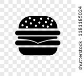 burger vector icon isolated on... | Shutterstock .eps vector #1181185024