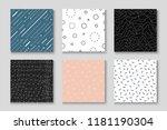 set of seamless creative... | Shutterstock .eps vector #1181190304