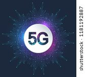 5g network wireless systems and ... | Shutterstock .eps vector #1181192887