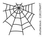 spider web thin line icon....   Shutterstock .eps vector #1181196697