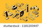 business audit vector... | Shutterstock .eps vector #1181203447