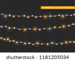 christmas lights isolated... | Shutterstock .eps vector #1181205034