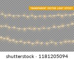 christmas lights isolated... | Shutterstock .eps vector #1181205094