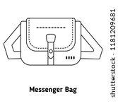 messenger bag for men in thin...   Shutterstock .eps vector #1181209681