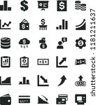 solid black flat icon set bank... | Shutterstock .eps vector #1181211637