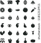 solid black flat icon set piece ... | Shutterstock .eps vector #1181213911