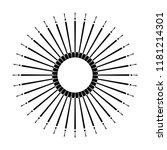 retro sun burst shape. vintage... | Shutterstock . vector #1181214301
