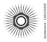 retro sun burst shape. vintage... | Shutterstock . vector #1181214334