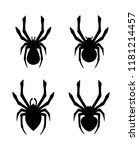 vector set of spider icons.... | Shutterstock .eps vector #1181214457
