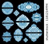 vector set of mandalas  design... | Shutterstock .eps vector #1181214994