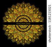 indian rug tribal ornament... | Shutterstock .eps vector #1181215021