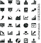 solid black flat icon set... | Shutterstock .eps vector #1181218261