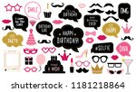 photo booth props set for... | Shutterstock .eps vector #1181218864