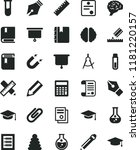 solid black flat icon set... | Shutterstock .eps vector #1181220157