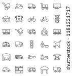 thin line vector icon set  ... | Shutterstock .eps vector #1181221717