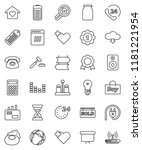thin line vector icon set  ... | Shutterstock .eps vector #1181221954