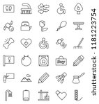 thin line vector icon set  ... | Shutterstock .eps vector #1181223754