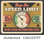 Car Speedometer Vintage Banner  ...