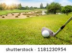 golf ball on beautiful green... | Shutterstock . vector #1181230954