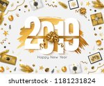 2019 Happy New Year Background. ...