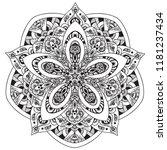 black and white mandala vector... | Shutterstock .eps vector #1181237434