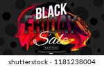 black friday 2019 vector banner ... | Shutterstock .eps vector #1181238004