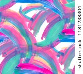 abstract colorful brushstrokes... | Shutterstock . vector #1181238304