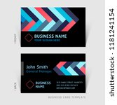 business card abstract... | Shutterstock .eps vector #1181241154