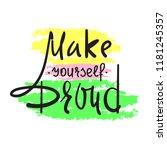 make yourself proud   simple... | Shutterstock .eps vector #1181245357