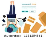vector illustration  flat style ... | Shutterstock .eps vector #1181254561
