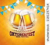 oktoberfest banner illustration ... | Shutterstock .eps vector #1181257414