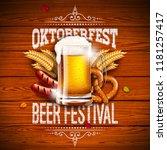 oktoberfest banner illustration ...   Shutterstock .eps vector #1181257417