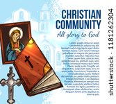 christian community poster with ... | Shutterstock .eps vector #1181262304