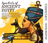 ancient egypt culture  history... | Shutterstock .eps vector #1181264011