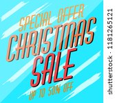 christmas sale template | Shutterstock .eps vector #1181265121