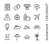 tour and travel outline icon... | Shutterstock .eps vector #1181265637