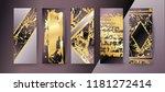 set of elegant brochure  card ... | Shutterstock .eps vector #1181272414