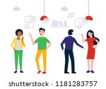 teamwork of colleagues in the... | Shutterstock .eps vector #1181283757