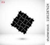 puzzle icon vector    vector... | Shutterstock .eps vector #1181287624