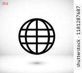 globe icon vector    vector eps ... | Shutterstock .eps vector #1181287687