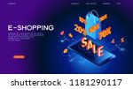ecommerce business concept.... | Shutterstock .eps vector #1181290117