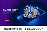 smart city or intelligent... | Shutterstock .eps vector #1181290207