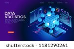 data statistics web banner.... | Shutterstock .eps vector #1181290261