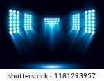 blue stage arena lighting... | Shutterstock .eps vector #1181293957